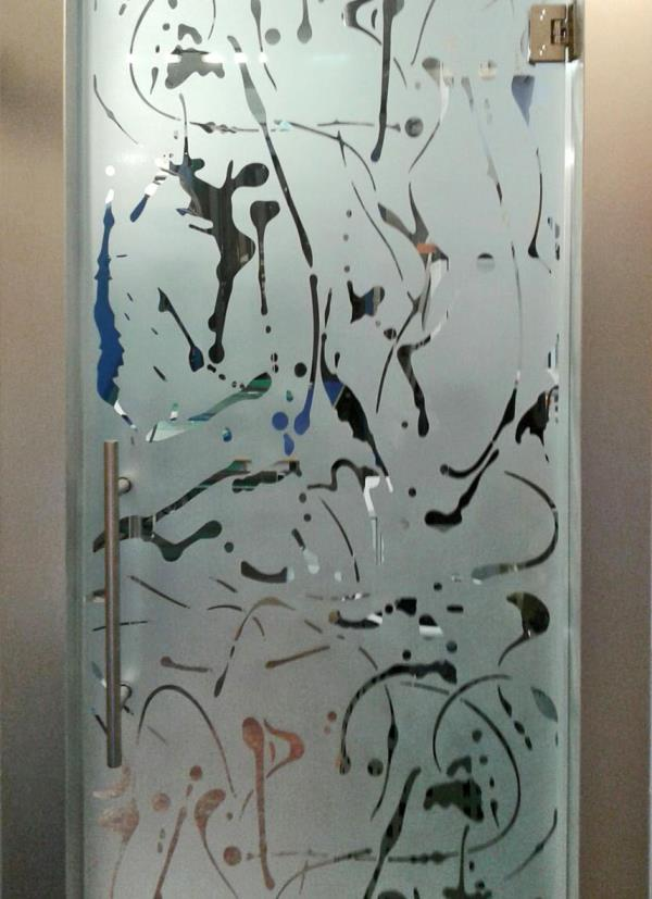 realizzazione vetrate decorate a Marino